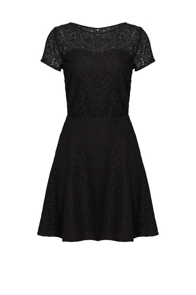 Dress ALine Floral Lace Crewneck-