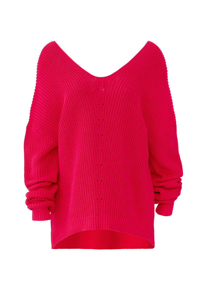 Women's Sweater Medium Knit High Low Slouchy