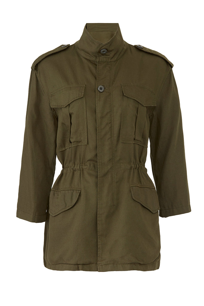 Women's Jacket Olive Small Military 3/4 Sleeve