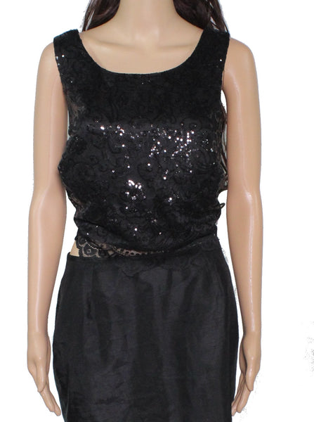 Blouse Deep Junior Lace Sequin Crop