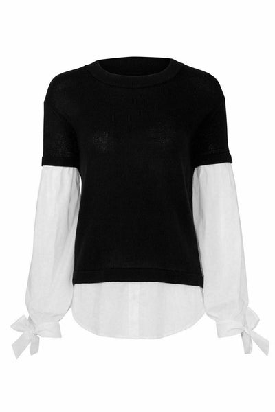 Sweater Small Crewneck Layered Colorblock