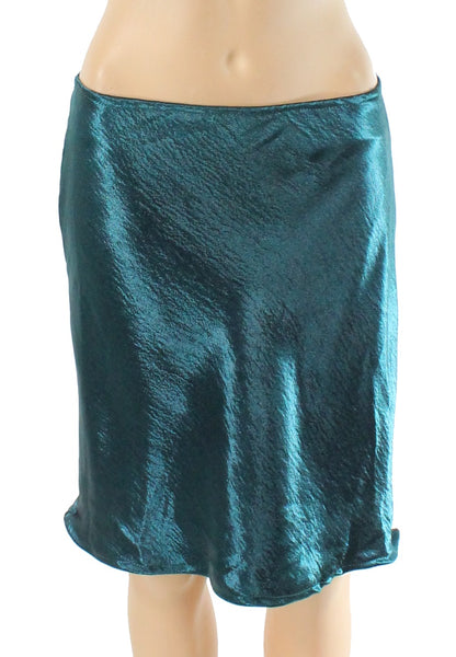 Poof York Juniors Skirt Emerald Green Large Straight Pencil $38-