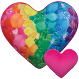 iscream - Candy Heart Microbead Pillow