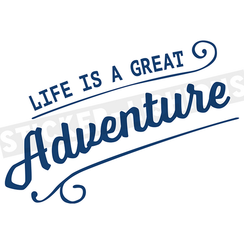 Sticker-Lishious - Life is an Adventure