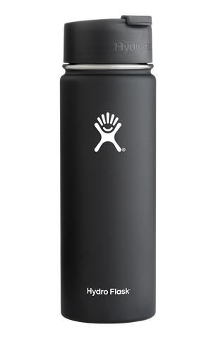 Hydro Flask - 20 oz Wide Mouth Black Water Bottle