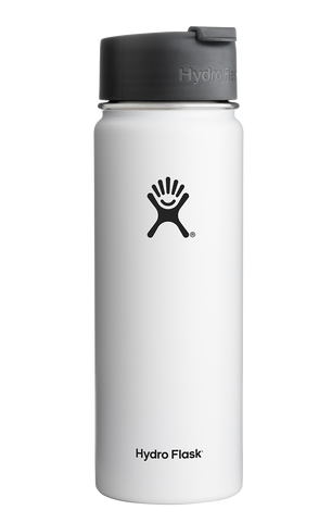 Hydro Flask - 20 oz Wide Mouth White Water Bottle