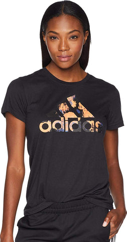 adidas - Floral Badge of Sport Logo Tee