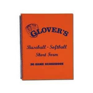 Softball Short Form Scorebook with Pitch Count