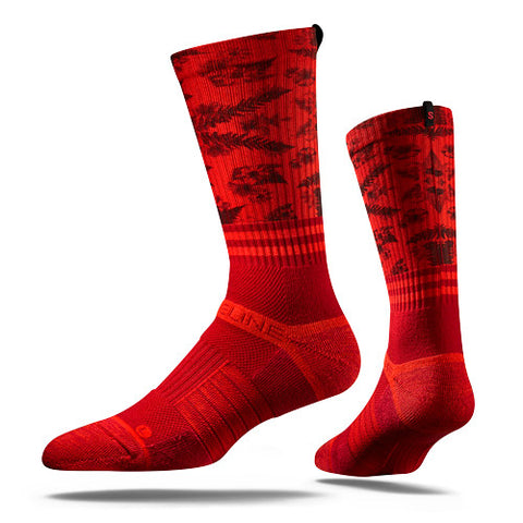 Strideline Sock-Blood Red Strapped Fit