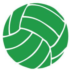 Go Run USA Volleyball Decal - Green Round