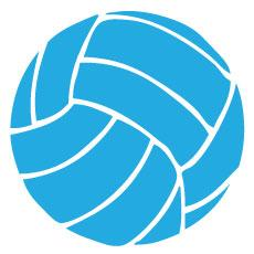 BaySix Volleyball Decal - Sky Blue Round