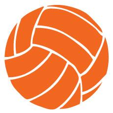 Go Run USA Volleyball Decal - Orange Round