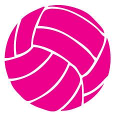 Go Run USA Volleyball Decal - Pink Round