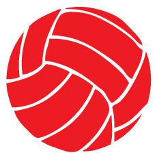 Go Run USA Volleyball Decal - Red Round
