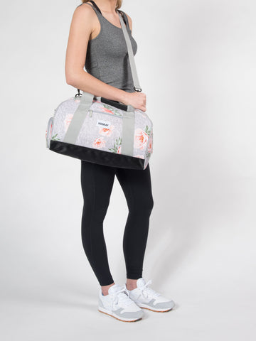 Vooray Burner Gym Duffel-Rose Grey Print Small