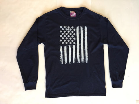 Victory Sportswear - Volleyball USA Flag Long Sleeve Tee
