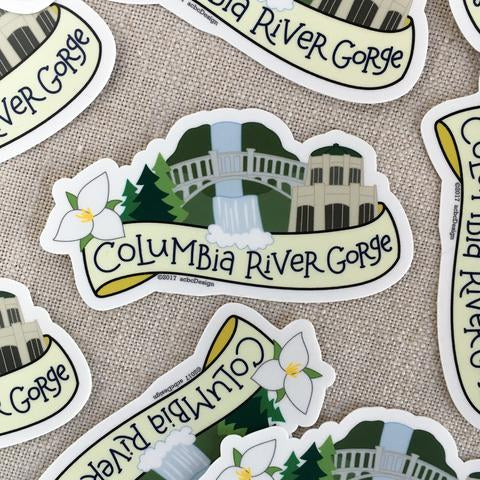 acbcDesign - Columbia River Gorge Vinyl Sticker
