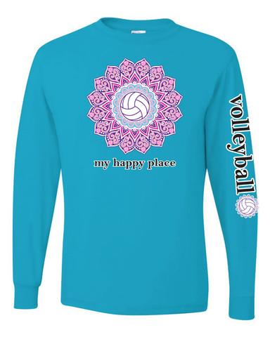 Victory Sportswear - My Happy Place Volleyball  L/S Tee