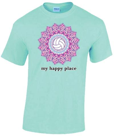 Victory Sportswear - My Happy Place Volleyball  Tee