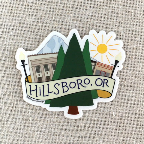 acbcDesign - Hillsboro Vinyl Sticker