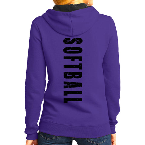 Throw Like A Girl-Softball Hoodie