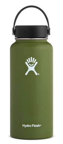 Hydro Flask - 32 oz Wide Mouth Olive Water Bottle