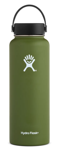 Hydro Flask - 40 oz Wide Mouth Olive Water Bottle