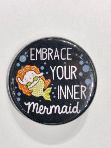 Well...This Is Awkward - Miss Mermaid Button Pin