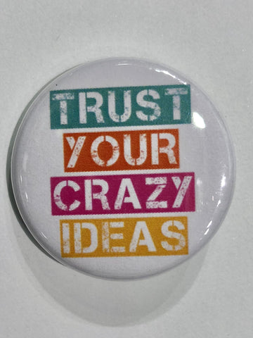 Well...This Is Awkward - Crazy Ideas Button Pin