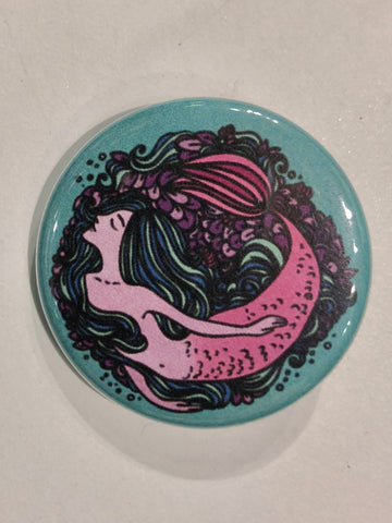 Well...This Is Awkward - Inner Mermaid Button Pin