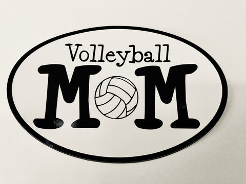 "Go Run USA Volleyball ""Mom"" Oval Decal"