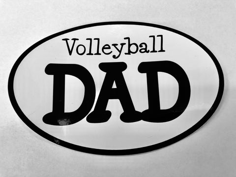 "Go Run USA Volleyball ""Dad"" Oval Decal"
