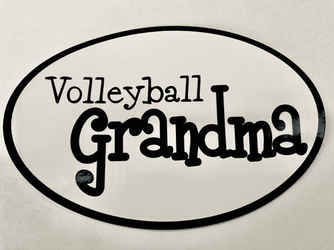 "Go Run USA Volleyball ""Grandma"" Oval Decal"