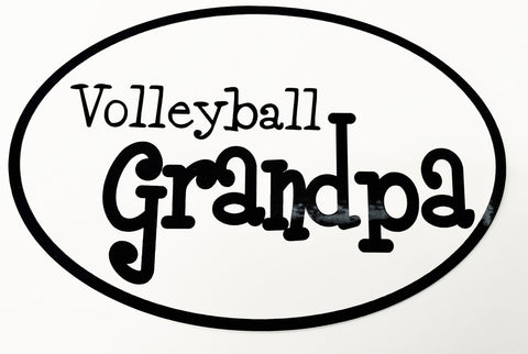 "Go Run USA Volleyball ""Grandpa"" Oval Decal"