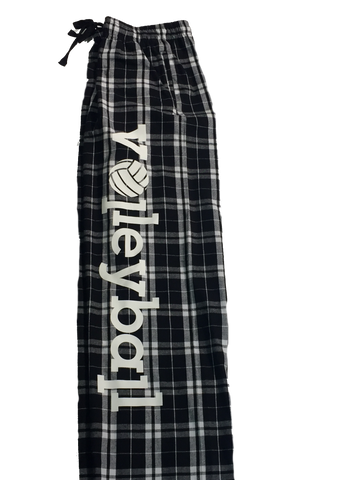Aries Apparel Volleyball Flannel Pant-Black and White