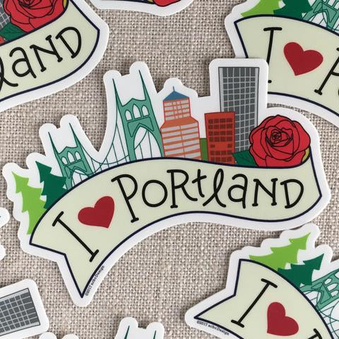 acbcDesign - I Heart Portland Vinyl Sticker