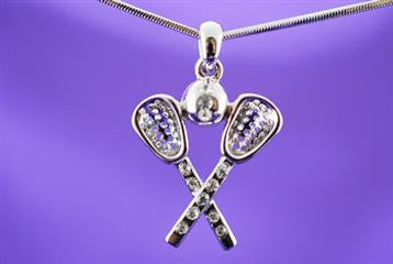 Violet Victoria LACROSSE STICK NECKLACE