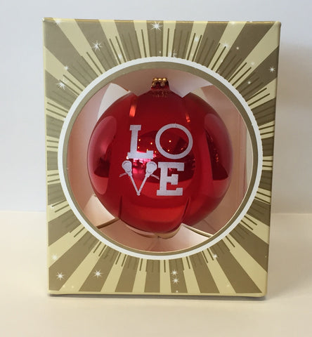 Go Run USA LAX Love Ornament