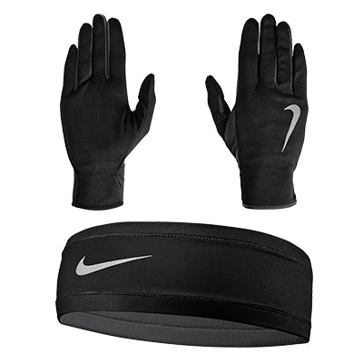 Nike-Women's Run Dry Headband and Glove Set