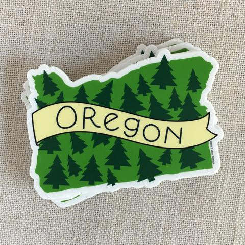 acbcDesign - Oregon Trees Vinyl Sticker