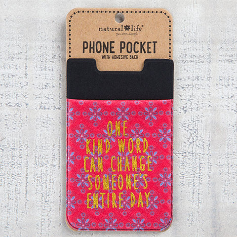 Natural Life - One Kind Word Phone Pocket