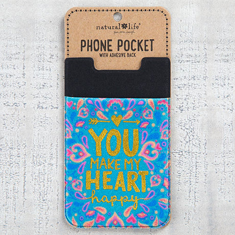 Natural Life - Heart Happy Phone Pocket