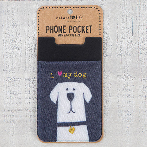 Natural Life - I Love My Dog Phone Pocket