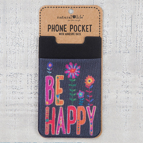Natural Life - Be Happy Phone Pocket