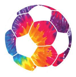 Go Run USA Soccer Round Tie-Dye Decal