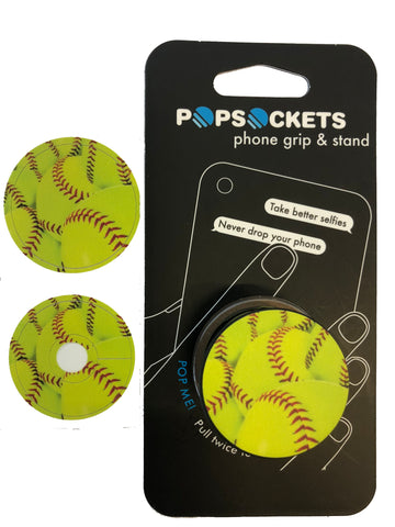 Might Skins-Popsocket Softball Decal