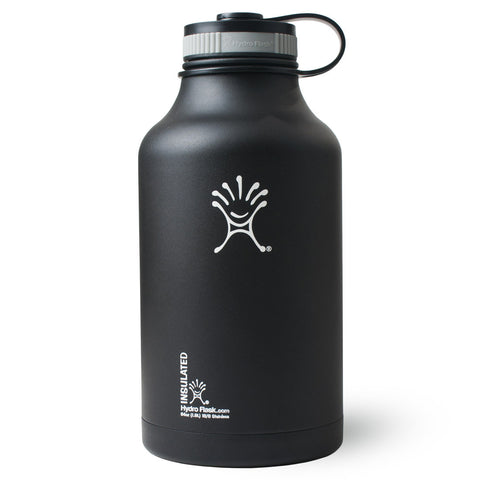 Hydro Flask - 64 oz Growler Black Water Bottle
