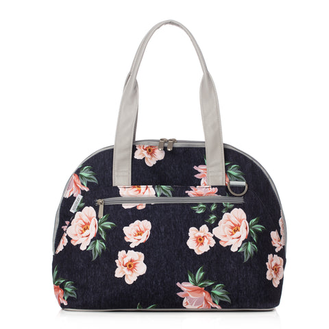 Vooray Zen Bag-Rose Navy Print