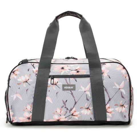 Vooray Burner Gym Duffel Large-Grey Cherry Print