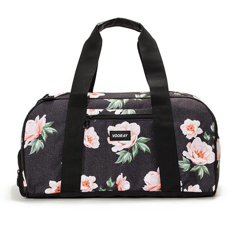 Vooray Burner Gym Duffel Large-Rose Black Print